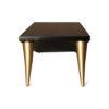 Jayden Brown Wooden Coffee Table with Golden Legs 4
