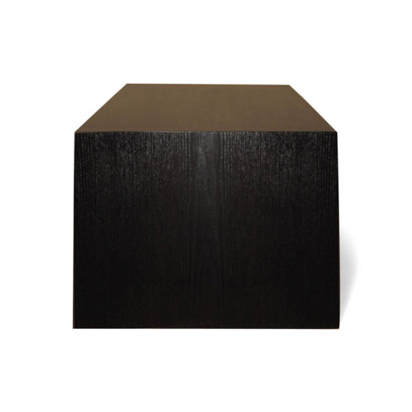 Jayden Brown Wooden Coffee Table with Golden Legs Right View