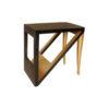 Jayden Dark Brown Square Side Table with Golden Legs 1