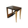 Jayden Dark Brown Square Side Table with Golden Legs 2