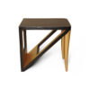 Jayden Dark Brown Square Side Table with Golden Legs 3