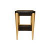 Jayden Dark Brown Square Side Table with Golden Legs 5