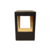 Jayden Dark Brown Square Side Table with Golden Legs 6
