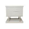 Max Light Grey Bedside Table with Stainless Steel 1