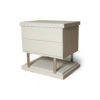 Max Light Grey Bedside Table with Stainless Steel 2