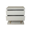 Max Light Grey Bedside Table with Stainless Steel 3