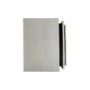Max Light Grey Bedside Table with Stainless Steel 6