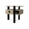 Slava Black and Grey Gloss Bedside Table 1