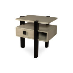 Slava Black and Grey Gloss Bedside Table Top View