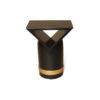 V Borma Round Dark Brown Cylinder Side Table 1