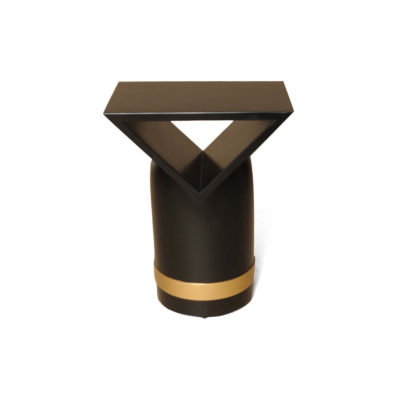V Borma Round Dark Brown Cylinder Side Table