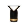 V Borma Round Dark Brown Cylinder Side Table 2