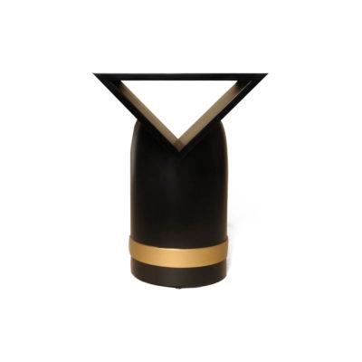 V Borma Round Dark Brown Cylinder Side Table Front