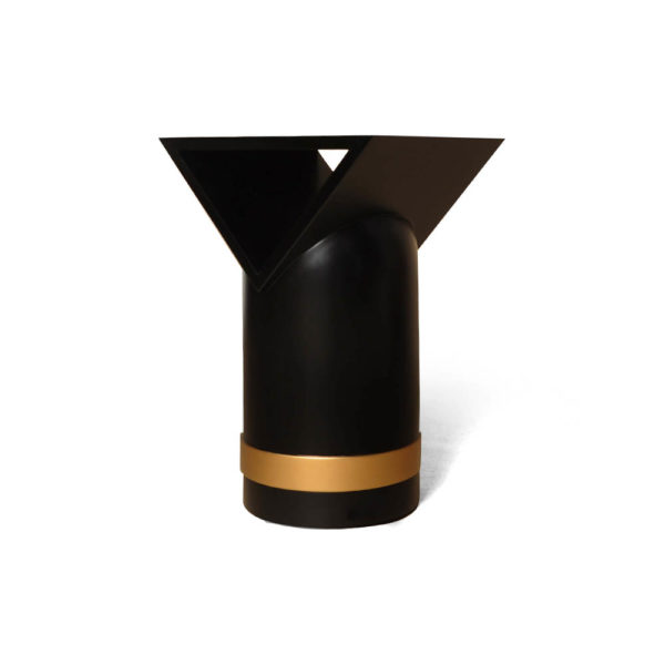 V Borma Round Dark Brown Cylinder Side Table Perspective