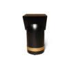 V Borma Round Dark Brown Cylinder Side Table 4