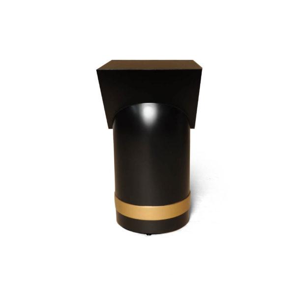 V Borma Round Dark Brown Cylinder Side Table Side