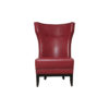 Warwick High Back Chair with Upholstery Natural Leather 1