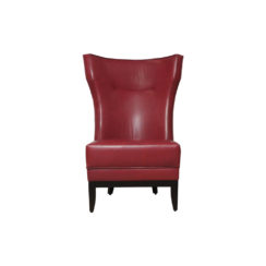 Warwick High Back Chair with Upholstery Natural Leather