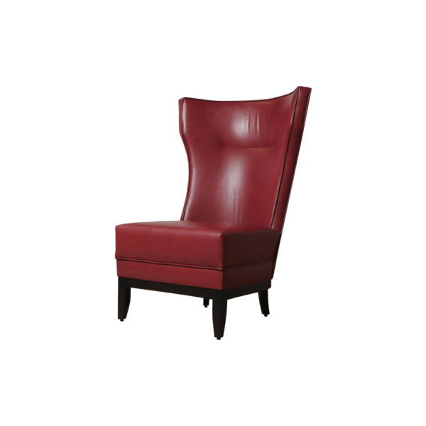 Warwick High Back Chair with Upholstery Natural Leather Beside View