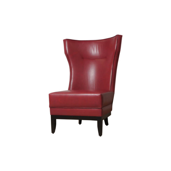 Warwick High Back Chair with Upholstery Natural Leather Left