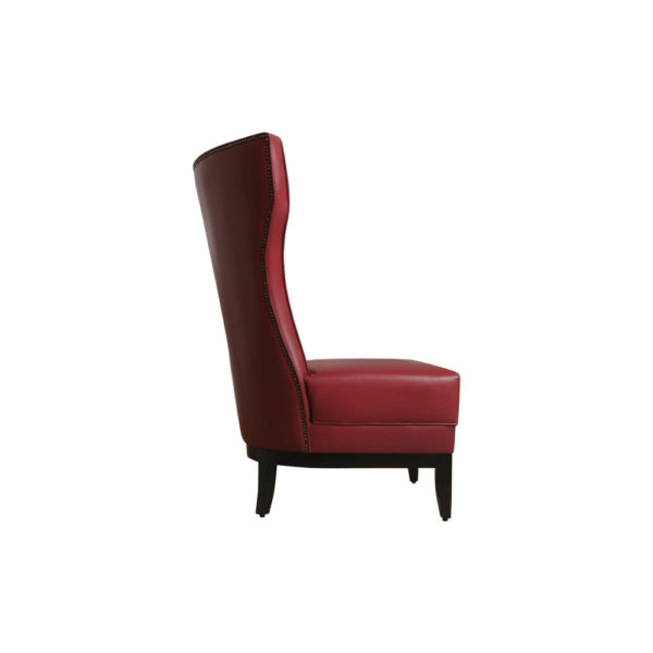 Warwick High Back Chair with Upholstery Natural Leather Right Side View
