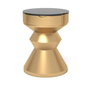 Alexa gold round bedside table