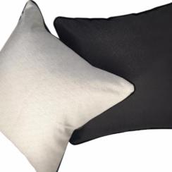 black and white cushion