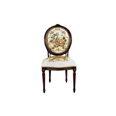French Dining Chair with Luxury Gobelin Fabric