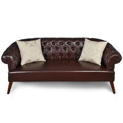 classic-leather-sofa-silk-cushion-UK