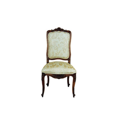 Antique Dining Chair with Hand Carved Beach Wood