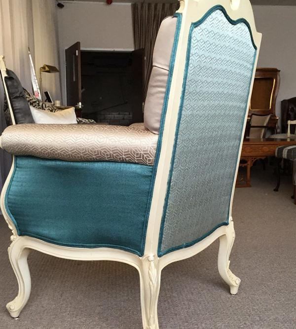 french-painted-wing-back-armchair-details-UK