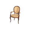 Classical French Style Dining Chairs Upholstered Luxury Fabric 1