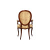 Classical French Style Dining Chairs Upholstered Luxury Fabric 2