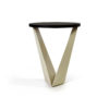 Luca Dark Brown and Cream V Shaped Small Round Side Table 5