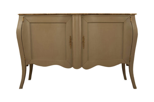 Adagio Beige Wooden with Marble Top Sideboard