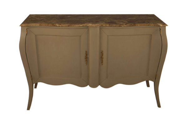 Adagio Beige Wooden with Marble Top Sideboard Top View