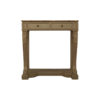 Adalia Wood Beige Two Drawer Console Table with Marble Top 1