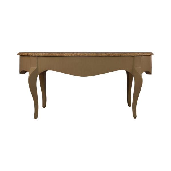 Alivar Oval Wood Marble Top Coffee Table