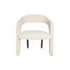 Archy Upholstered Round Back Arm Chair 1