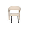 Archy Upholstered Round Back Arm Chair 5