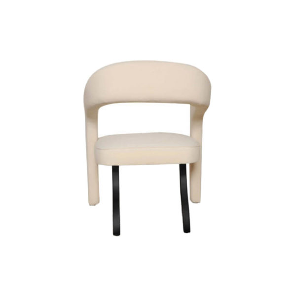 Archy Upholstered Round Back Arm Chair Back View