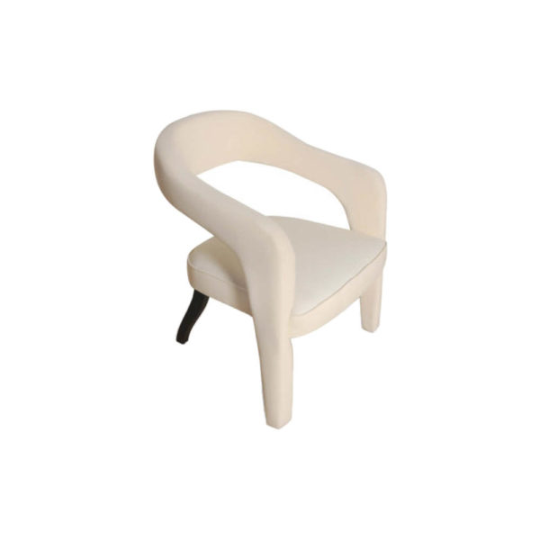 Archy Upholstered Round Back Arm Chair Right Side View