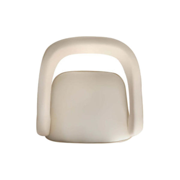 Archy Upholstered Round Back Arm Chair Top View