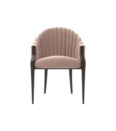 Bogo Upholstered Striped Armchair with Black Legs