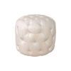 Boho Upholstered Round Tufted Pouf 1