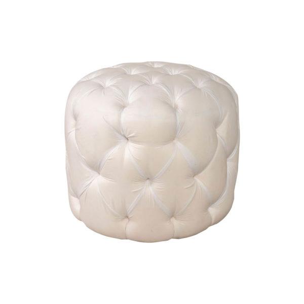 Boho Upholstered Round Tufted Pouf