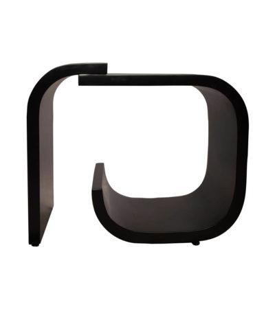 Bono Rectangular Black Gloss Side Table