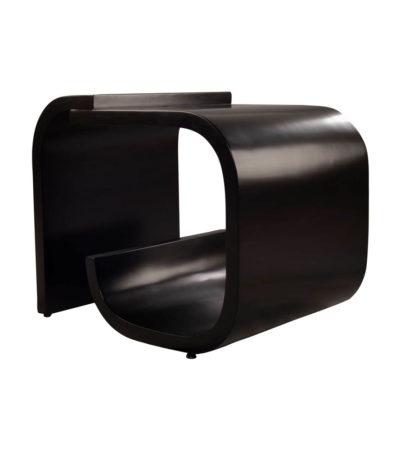 Bono Rectangular Black Gloss Side Table Beside View