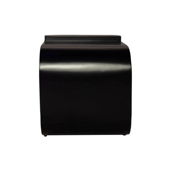Bono Rectangular Black Gloss Side Table Side View
