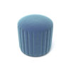 Caren Upholstered Stripped Round Pouf 2